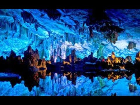Reed flute cave Guilin, China