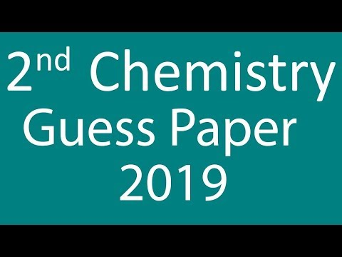 2nd Year Chemistry guess paper 2019 - YouTube