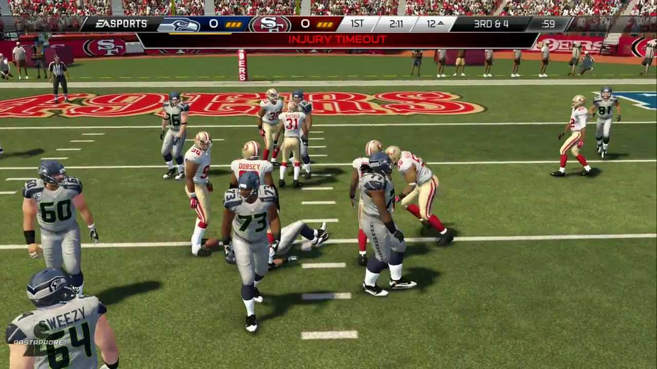 Madden NFL 25 PS4: Seahawks at 49ers  YouTube