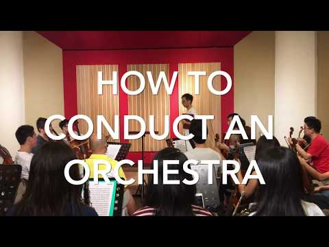 How to Conduct an Orchestra