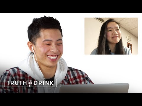 Couples in Long Distance Relationships Play Truth or Drink (Ryan & CJ)   Truth or Drink   Cut