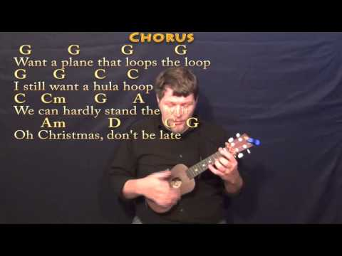 Christmas Don't Be Late - Ukulele Cover Lesson in G with Chords/Lyrics