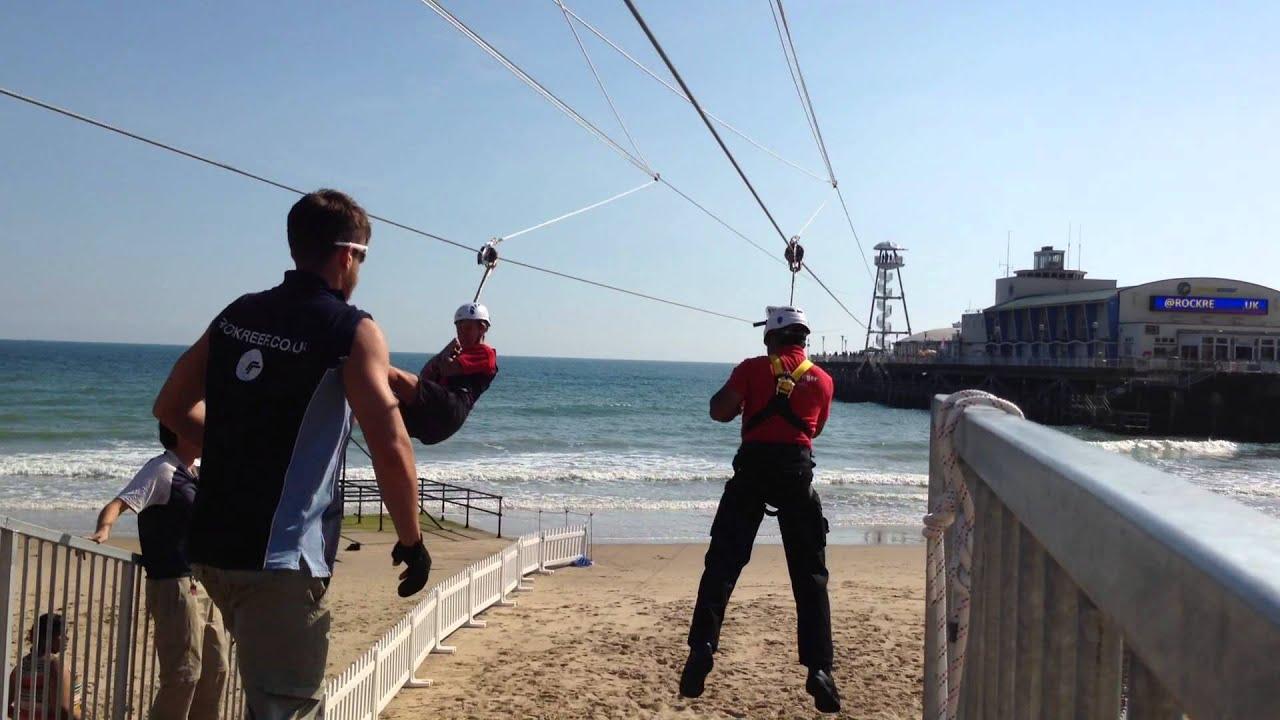 Bournemouth Pier Zipwire - YouTube