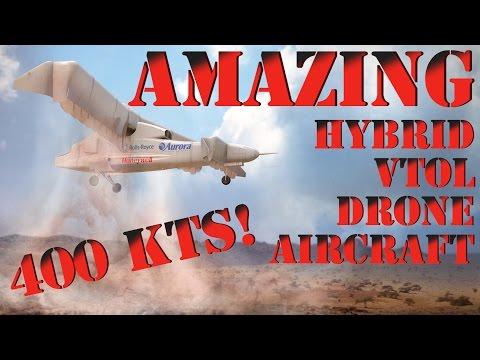DARPA Aurora VTOL X-Plane Hybrid Experimental Tilt-Wing LightningStrike Drone Aerospace News