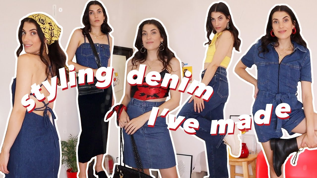 How to Style Denim | Styling My DIY Wardrobe + Tutorials