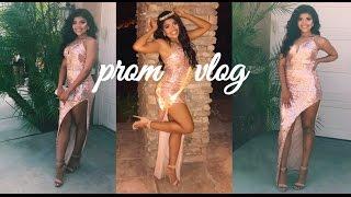 SENIOR YEAR vlog #26| prom grwm/vlog+ prom queen!!! 👑