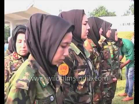 Afghan military lady officers train in Chennai, India