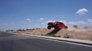 Johnny Angal Trophy Truck Driver testing out the Ford SVT Raptor Prerunner