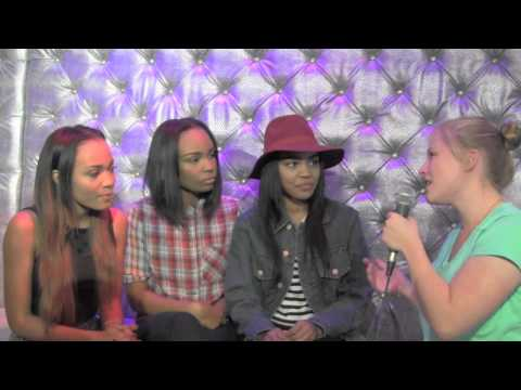 Lauryn, Sierra, and China McClain Interview at One Direction Wax Figure Unveiling