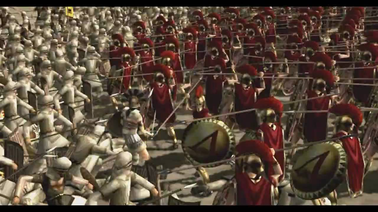 The Fall Of Troy Wallpaper Rome Total War La Bataille Des Thermopyles Machinima