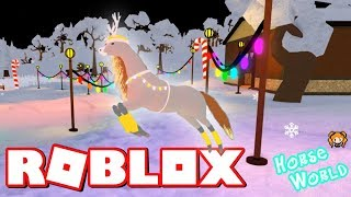 Roblox HORSE WORLD WINTER Update! My Art and OC's! Pt. 2 Christmas Edition