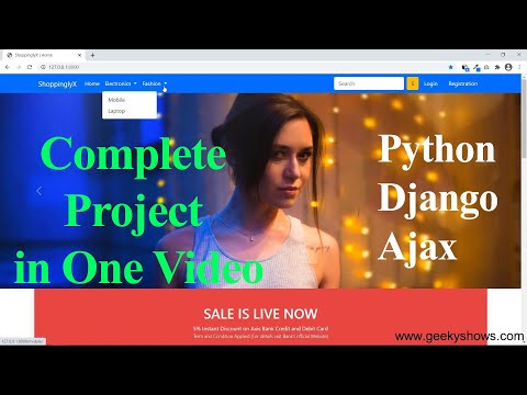 ShoppinglyX Complete Django Project in One Video (Hindi)