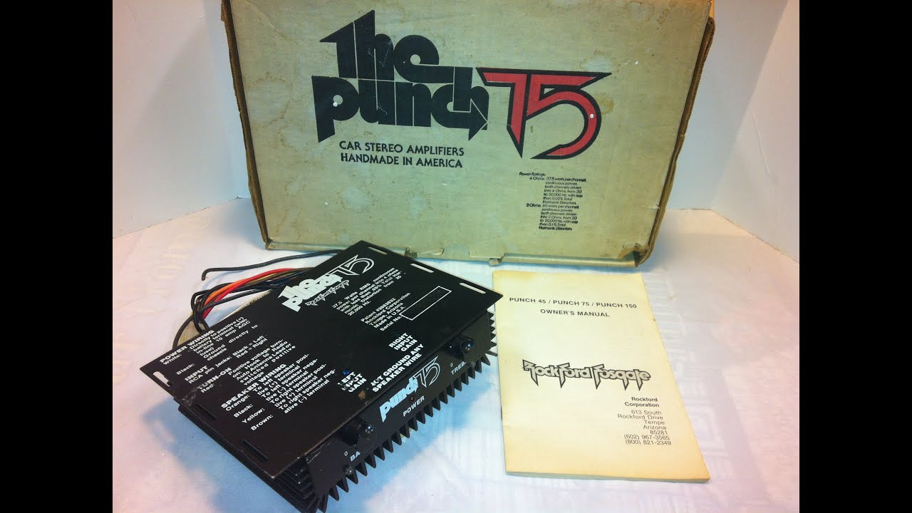 maxresdefault old school rockford fosgate punch 75 first generation amp rockford fosgate punch 150 wiring diagram at gsmx.co