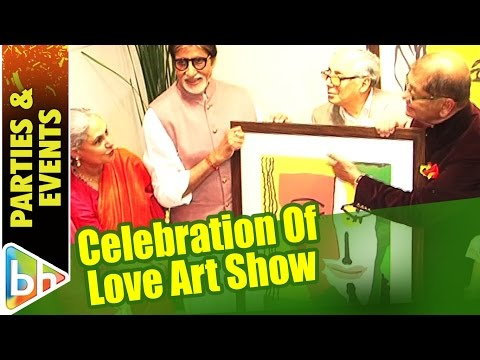 Amitabh Bachchan | Jaya Bachchan At An Art Show Celebration Of Love