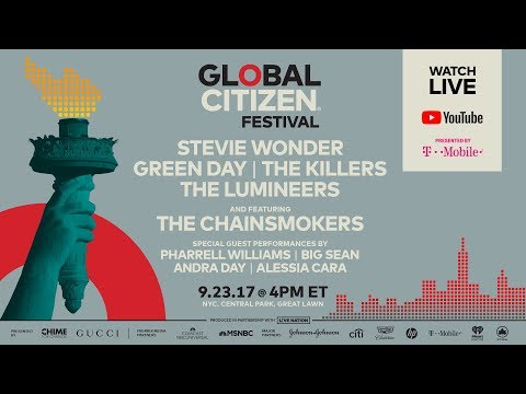 Global Citizen Festival, Central Park NYC | LIVE on YouTube presented by T-Mobile