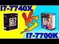 i7 7740X VS   i7 7700k  GTX 1080 Comparison