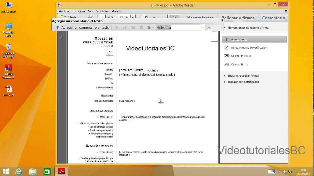 adobe reader rellenar y firmar archivos pdf youtube