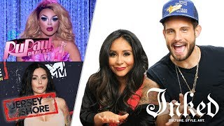 Snooki and Nico Tortorella Critique Jersey Shore and Drag Queen Tattoo | INKED