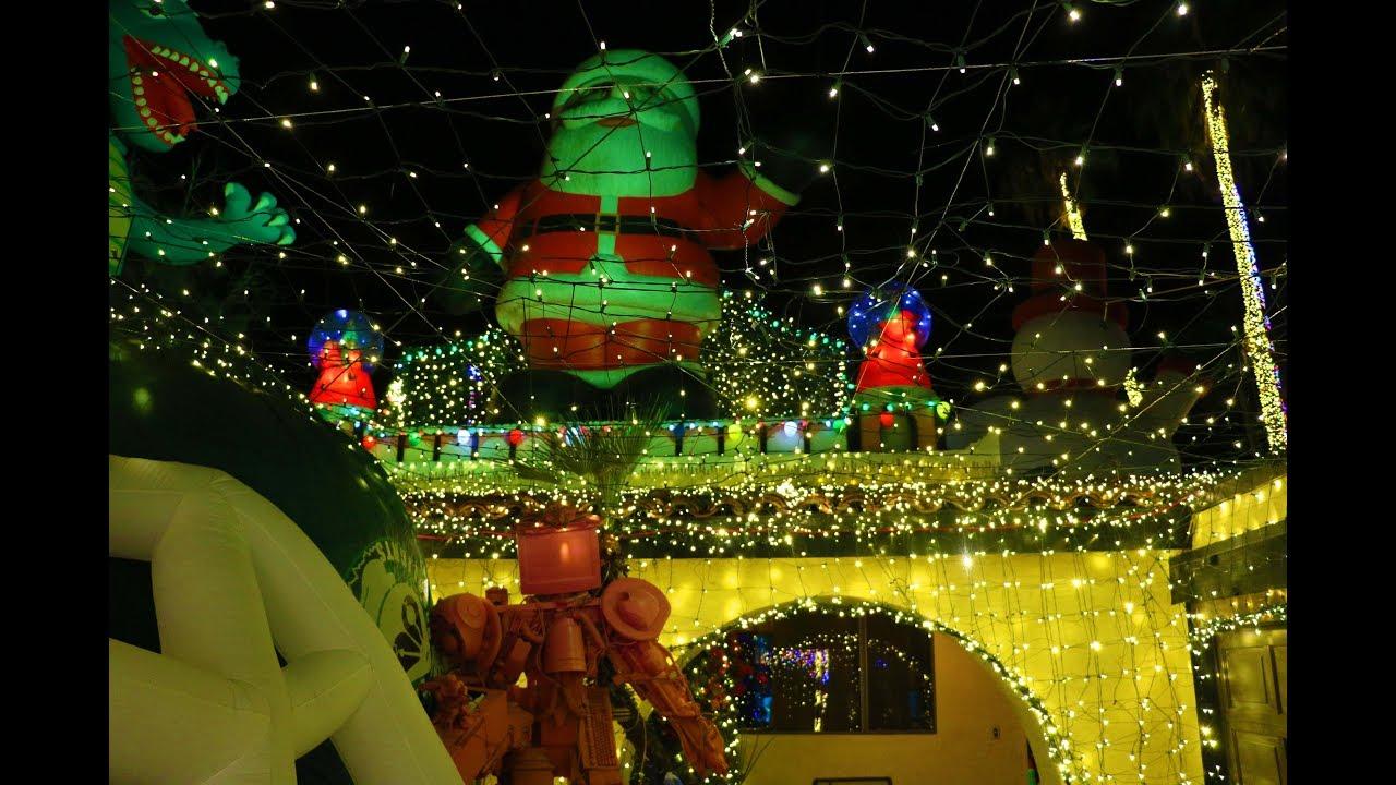 robolights christmas light art display in palm springs 2017 youtube