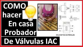 Como hacer un probador de Valvulas IAC casero✅[FUNCIONA]😱