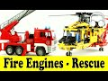 Fire engines rescue cars family sing along muffin songs пожарная машина mp3