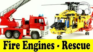 Fire Engines - Rescue - Cars | Family Sing Along - Muffin Songs - пожарная машина