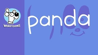 Draw A Panda Easy Using The Word  ( Wordtoon Panda + Sketch Book )