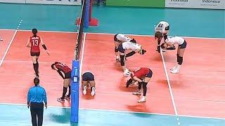 대한민국 여자배구 역대급 최장시간(1분 6초) 랠리
