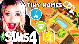Each TINY HOME Is A Different Pack 🏡 GIRL VERSUS SIMS 4 BUILD CHALLENGE