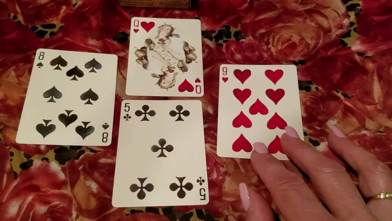 4 Card Playing Card Reading: Querent's Situation