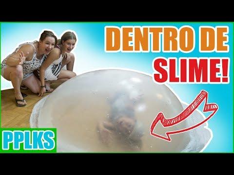 DENTRO de burbuja GIGANTE de SLIME Challenge // Papilukis
