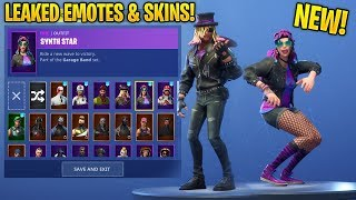 "*NEW* ""Stage Slayer & Synth Star"" SKIN SHOWCASE WITH ALL LEAKED FORTNITE DANCES & EMOTES..!!"