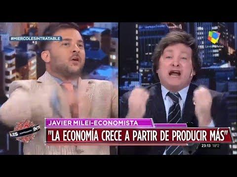 'Sos un burro' Milei contra Brancatelli en Intratables- 18/09/19