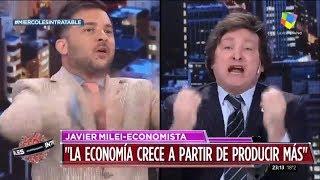"""""""Sos un burro"""" Milei contra Brancatelli en Intratables- 18/09/19"""