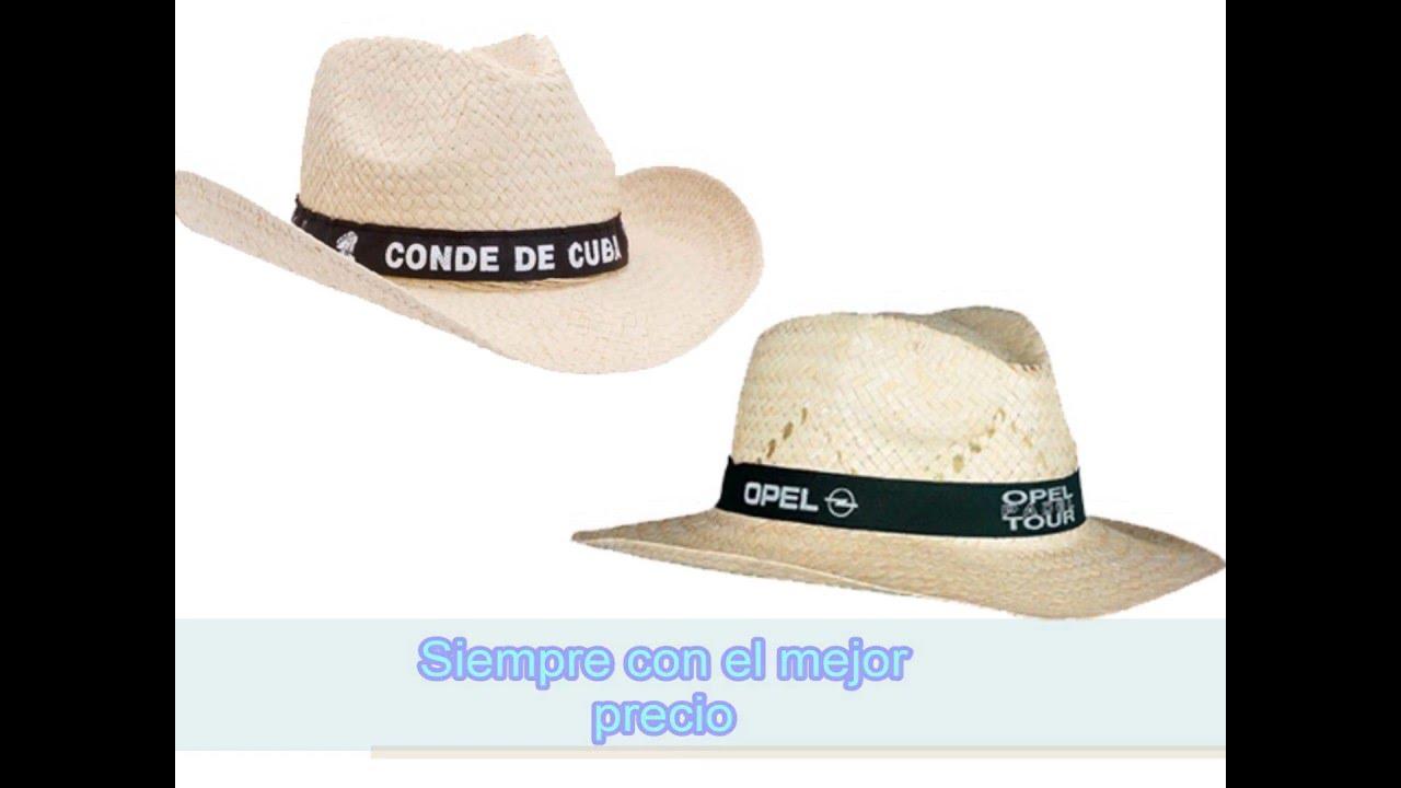 Sombreros de paja y de fiesta - Regalos publicitarios de empresa y detalles  para eventos - YouTube acf10d4a189