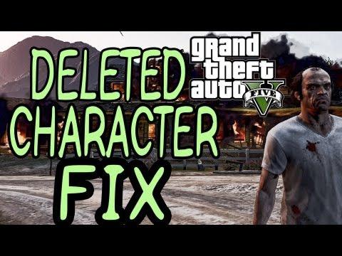 GTA V: DELETED CHARACTER FIX
