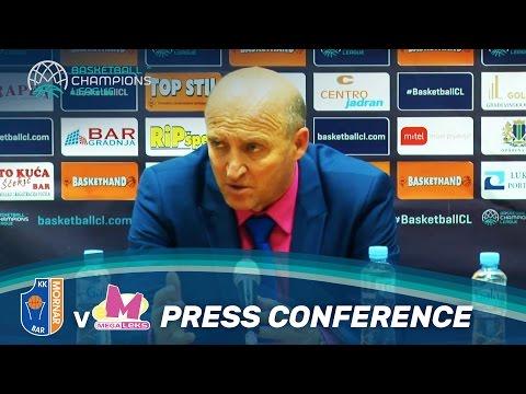 KK Mornar v Mega Leks - Press Conference - Basketball Champions League