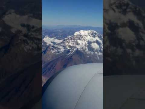 Aircraft over Chile mountains