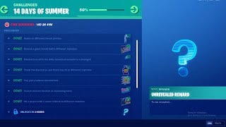 FORTNITE 14 DAYS OF SUMMER DAY 8 CHALLENGE! NEW FREE ITEMS!