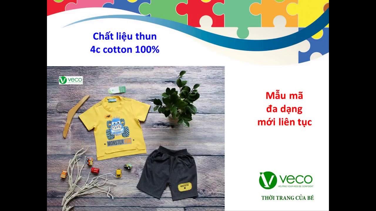 Xưởng may quần áo trẻ em xuất khẩu giá sỉ Veco – bộ thun nam xe monter cho mùa hè