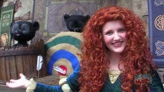 merida brave meet and greet at magic kingdom with bear cubs archery lessons