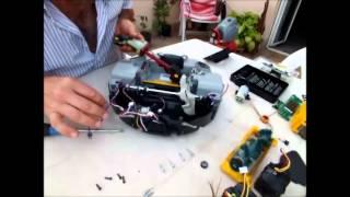 smontaggio robot deebot d76