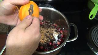 Cooking : Orange, Cherry, Cranberry Sauce