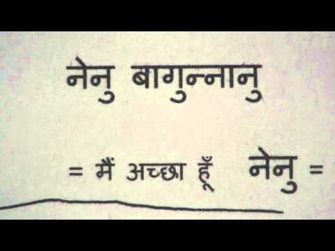 Learn Telugu through Hindi lesson.1