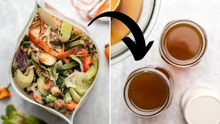 How I turn SCRAPS into Vegetable Broth | Low-Waste Hacks