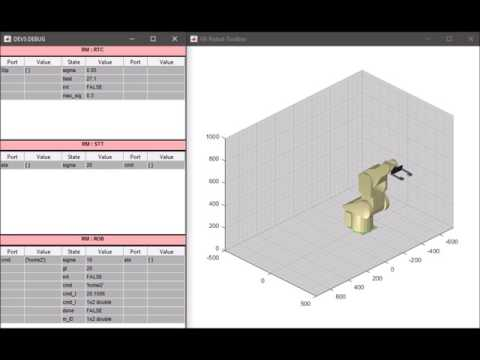 Rapid Control Prototyping - Virtual Robots Example - MATLAB - RCV Toolbox