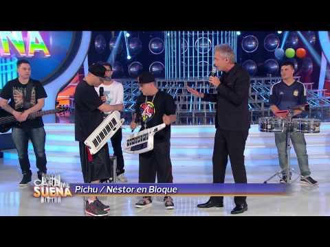 Pichu canta junto a Nestor en Bloque - Tu Cara Me Suena 2014