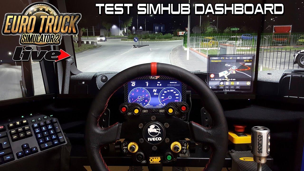Euro Truck Simulator 2 Live - Test Dashboard SimHub