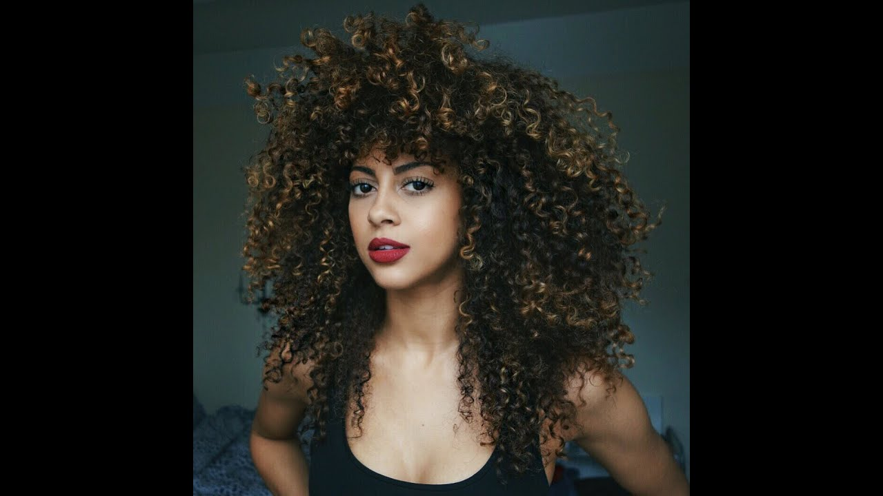 big curly hair routine