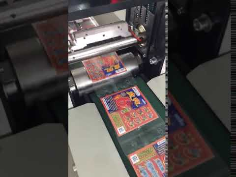 Lottery packing machine